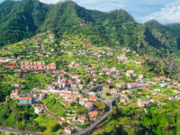 Typical Portugal Town on Madeira Island