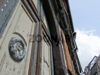Verfallendes Fachwerkhaus in der Altstadt von Quedlinburg