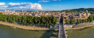 Panorama city skyline, Rome, Italy