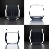 Empty Water Glasses set