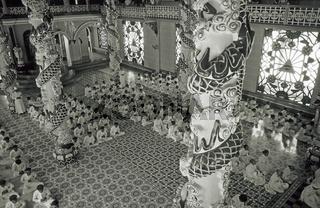 Der 'Heilige Stuhl der Cao Dai', Tempel, Tay Ninh bei Saigon, Vietnam - The ' saint chair of the Cao Dai ', temples, Tay Ninh, Saigon, Vietnam