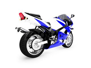 isolated motorcycle on a white background