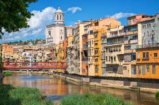 Cityscape of Girona, Catalonia, Spain