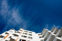 Hochhaus Balkonfassade