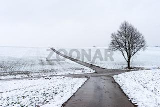 Winterlandschaft in der Wetterau