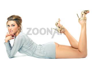 young beautiful model posing