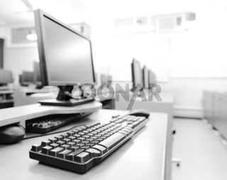 workplace room with computers