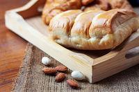Bread on wooden.