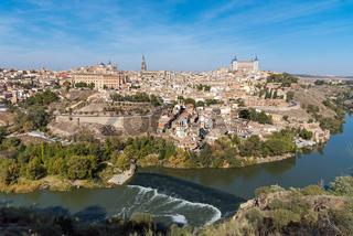 Blick auf Toledo in Spanien