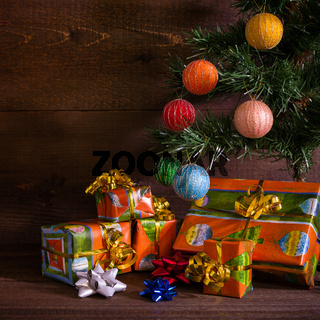 Many Christmas presents under the tree
