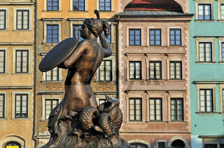Meerjungfrau auf dem Altstädter Markt, Altstadt Warschau / Pomnik Syrenki