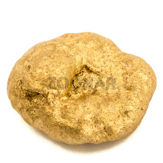 Gold nugget, isolated on white background