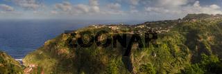 Panorama of the north coast of Madeira
