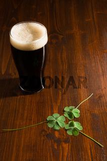 Black beer and shamrocks