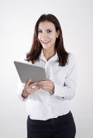 Geschäftsfrau mit digital tablet