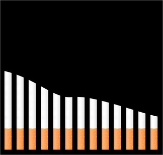 cigarette diagram  on black background