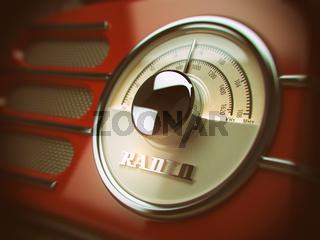 Old  radio background. Vintage style.