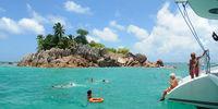 Die kleine Insel St. Pierre lädt zum Schnorcheln ein