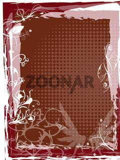 Floral Hintergrund Karte