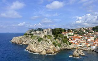 Festung Lovrijenac in Dubrovnik mit Altstadt