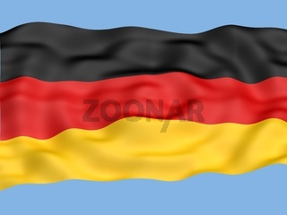 Flag of Germany  waving in the wind