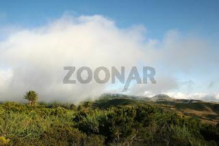 Passatwolken ueber La Gomera