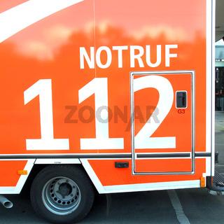 gerrman ambulance car 112