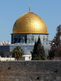 Goldene Kuppel des Felsendoms in Jerusalem