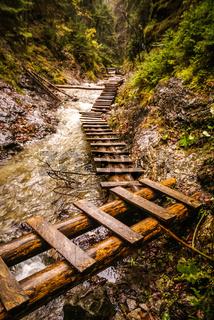 Foot-bridges in Slovak Paradise