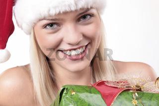 Cute Santa Blond Girl