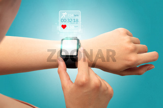 Hand with smartwatch