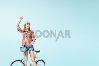 Hipster on the bicycle