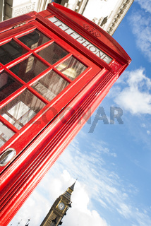 Big ben and red phone cabine