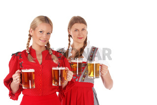 Oktoberfest women with beer