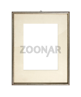 Old silver picture frame