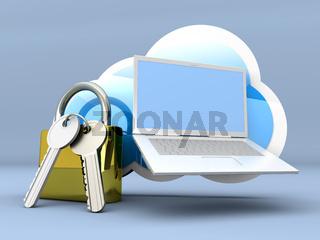 Secure Laptop cloud