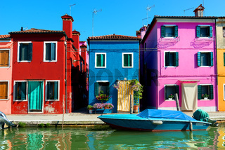 Colored houses in Burano