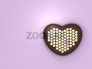 Schokolade: Viele Herzen, pink