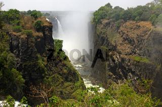 Viktoria-Fälle in der Schlucht des Sambesi-Flusses