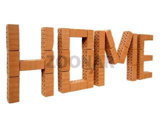 Wort HOME mini Steine_links