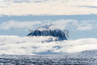 Blick zum Berg Niac, Sarek Nationalpark, Lappland