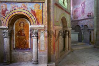 Fresken in der Abbaye de Saint Savin, Poitou Charentes, France
