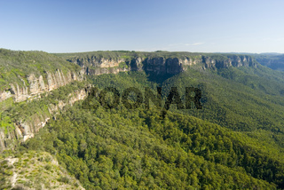 Scenic view of an escarpment in the Blue Mountains