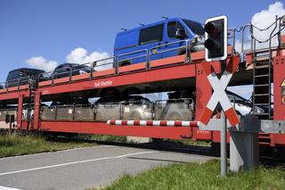 Autozug, Sylt Shuttle, Verbindung der Insel Sylt mit dem Festlan