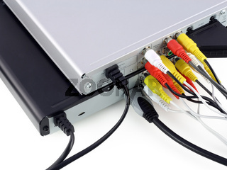 DVD  players with connected video cables