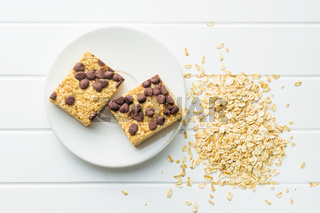 Oat protein bars.