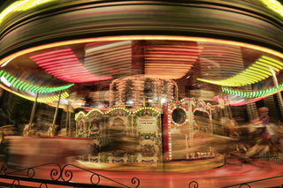 Motion blurr carousel.