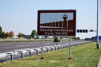 Hinweisschild ehemalige innerdeutsche Grenze