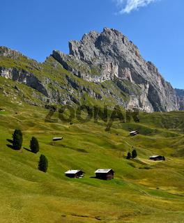 Naturpark Puez-Geisler; Cislesalpe; Geislergruppe; Dolomiten; Suedtirol;