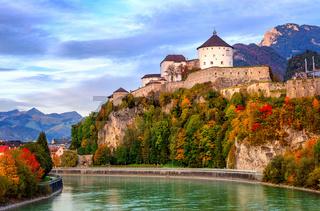 Castle Kufstein on the Inn river, Austria
